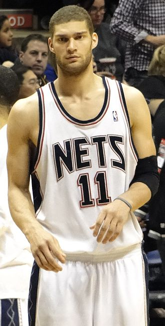 Brook Lopez - Lopez with the Nets in March 2010