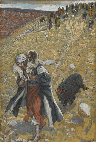 Scapegoat - Agnus-Dei: The Scapegoat (Agnus-Dei. Le bouc émissaire.), by James Tissot