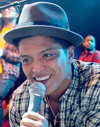 "Lift Off (song) - Bruno Mars (pictured), who co-wrote ""Lift Off"", was rumored to sing several lines in it. However, he did not appear on the final version of the track."