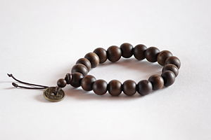 Buddhist prayer beads - Buddhist prayer beads in its normative, informal secular style.