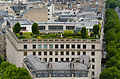 Building 8 rue de Tilsitt from the Arc de Triomphe, Paris June 2015.jpg