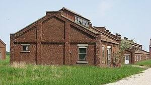 National Register of Historic Places listings in Knox County, Indiana - Image: Buildings at the Enoco Coal Mine