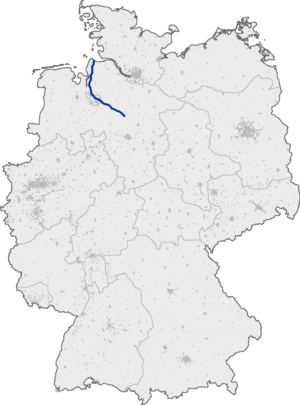Bundesautobahn 27 map.png