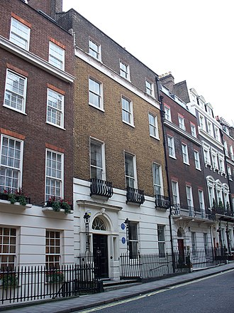 John Burgoyne - 10 Hertford Street, London W1, Burgoyne's home in later life