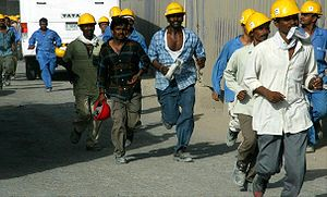 Burj Dubai Construction Workers on 4 June 2007