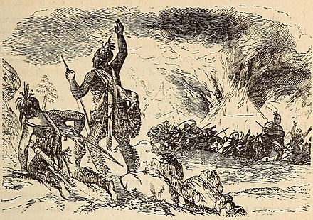 Assault on Aquascogoc Burning of Aquascogoc 1585.jpg
