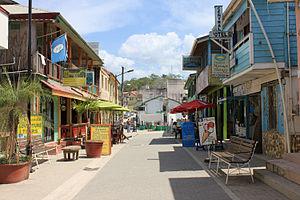 San Ignacio, Belize - Image: Burns Ave in San Ignacio