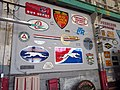 Bus logos at the Pacific Bus Museum, April 2018.JPG