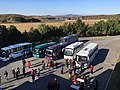 Buses at the Reunification Highway rest stop.jpg