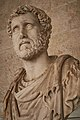 Bust of the Roman Emperor Antoninus Pius at the Ancient Agora Museum on March 23, 2021.jpg