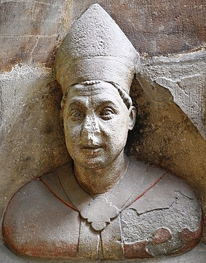 Jan of Jenštejn - Bust of Jan of Jenštejn in the St. Vitus Cathedral in Prague