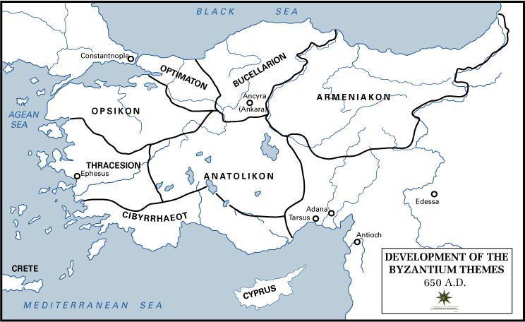 Byzantine Empire Themata-650