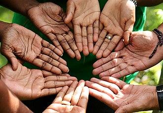 CARE (relief agency) - Staffs in Sri Lanka imitate the logo of CARE International