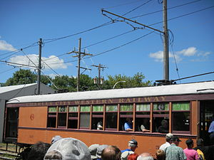 Boone and Scenic Valley Railroad - Ex-Charles City and Western Railway X50 trolley.