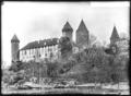 CH-NB - Estavayer-le-Lac, Château Chenaux, vue d'ensemble extérieure - Collection Max van Berchem - EAD-6879.tif