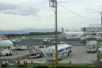 Sansa Airlines - SANSA's operations area at Juan Santamaría International Airport, next to the main terminal.