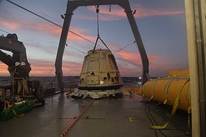 SpaceX CRS-5 - CRS-5 Dragon aboard recovery ship