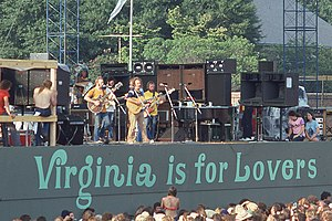 Virginia is for Lovers - Crosby, Stills, Nash & Young reunion tour at Foreman Field, Old Dominion University, Norfolk VA, (August 17, 1974)