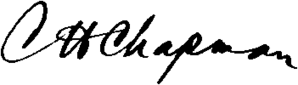Charles Henry Chapman (politician) - Image: C H Chapman Signature