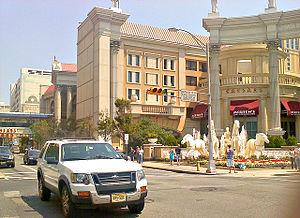 Caesars Atlantic City - The port cochere of Caesars