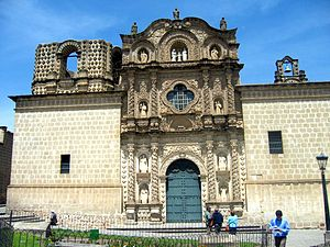 Andean Baroque - Church of Our Lady of Mercy. Baroque Architecture of Cajamarca