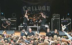 Caliban på festivalen Rock am Deich 2005.