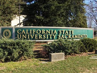 History of Sacramento, California - California State University, Sacramento main entrance