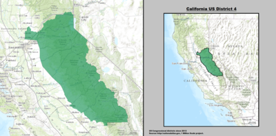 Californias Congressional Districts Wikipedia - Us representative map california