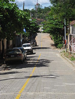Street in Cinco Pinos