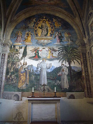 Bufalini Chapel - The Glory of St. Bernardino.
