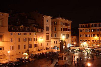 Campo de' Fiori is a popular drinking spot