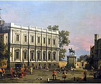 Canaletto - View of Banqueting House and Equestrian Statue of King Charles I.jpg