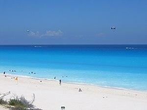Cancun beach (Mexico), August 2006
