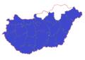 Canis aureus range map in Hungary.png