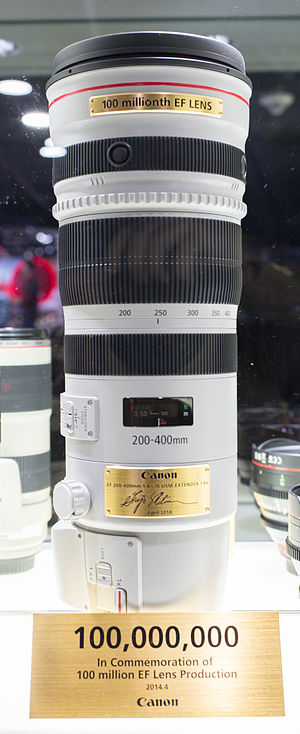 Canon EF 200–400mm lens - Image: Canon EF 200 400
