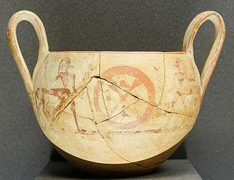 Centaur - Boeotian kantharos, Late Geometric period