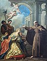 Cappella Giustinian dei Vescovi of San Francesco della Vigna (Venice) - Peter of Alcántara and the Queen of Spain - by Francesco Fontebasso.jpg