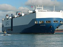 Car carrier Resolve (IMO 9080297) entering Port of Bizerte - Tunisia - 29 Jan. 2013.jpg