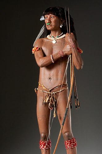 Island Caribs - Carib Warrior (Mixed Media Sculpture by artist George S. Stuart)