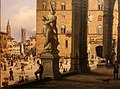 Carlo canella, veduta di piazza della signoria dalla loggia dei lanzi, 1830, 02.jpg