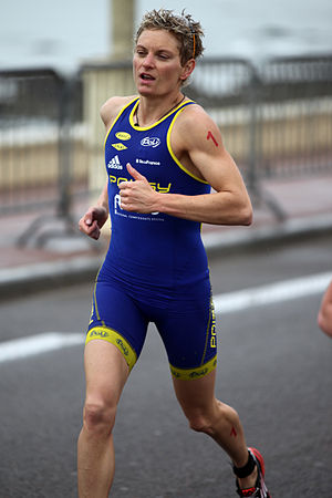 Carole Péon - Carole Péon at the Grand Prix de Triathlon in Les Sables d'Olonne, 2012.