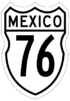 Federal Highway 76 shield