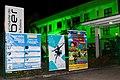 Cartazes à noite no Teatro Cidade do Saber, em 2014.jpg