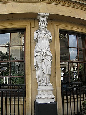 English: Caryatid, Montpellier One of 32 such ...