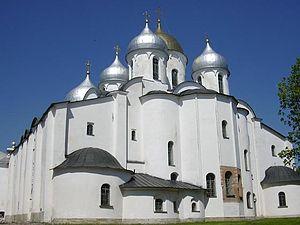 La catedral de Santa Sofía de Nóvgorod.