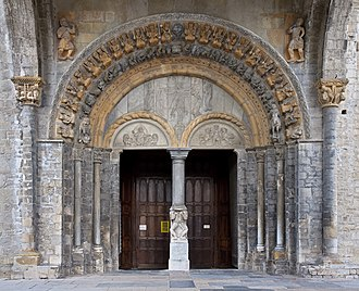 Oloron Cathedral - The Romanesque portal