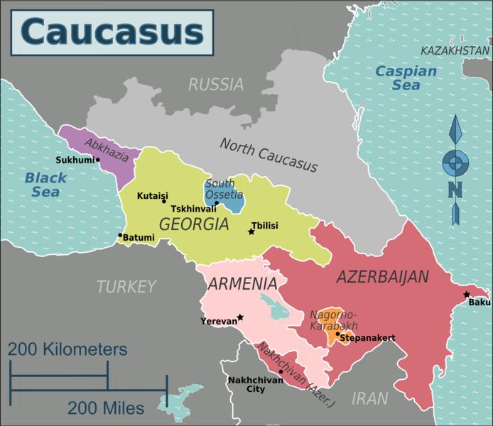 Kort over Kaukasus 2021