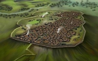 Oppidum - Modern-day rendering of a Celtic Oppidum, Central Europe 1st century BC