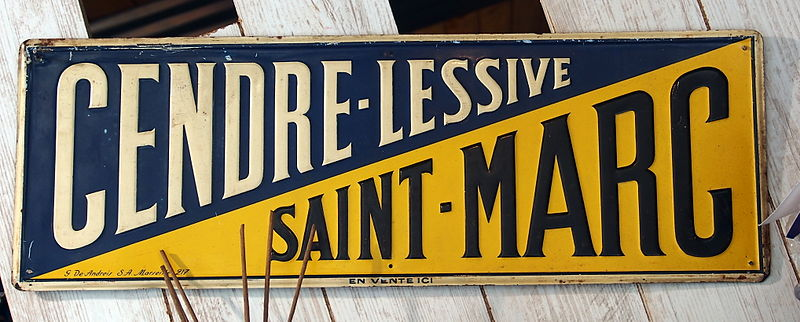 file cendre lessive saint marc advertising sign jpg wikimedia commons. Black Bedroom Furniture Sets. Home Design Ideas
