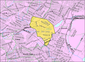 Census Bureau map of Hillside, New Jersey.png